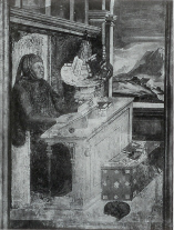 Petrarch in his Study